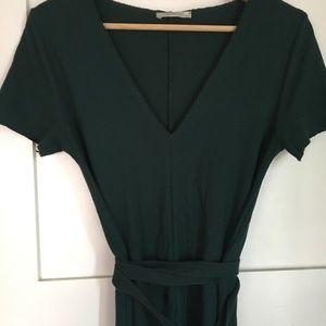Zara green wrap dress size small